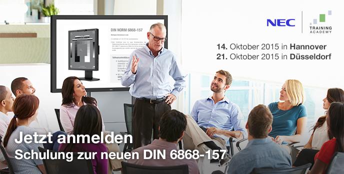 DIN6868-157 Expertentrainings unseres Kooperationspartners NEC