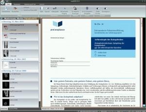 medidok zeigt die archivierten Aufklärungsbögen an - auch in mediDOK STARTER-PRO