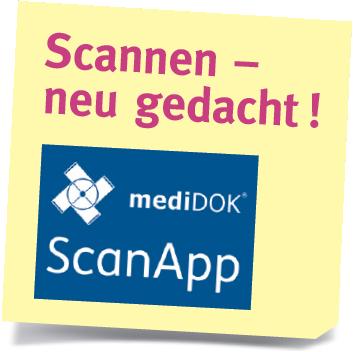 Neu für MVZ: die ScanApp (Mehr-Mandanten-Version)