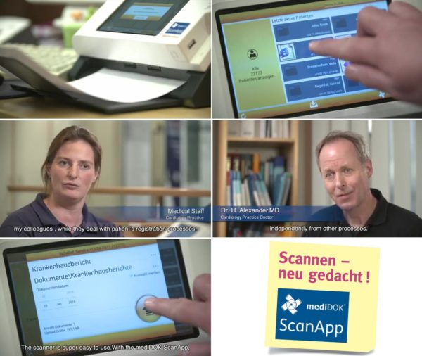 mediDOK ScanApp Plustek eScan A150 Papierlose Praxis