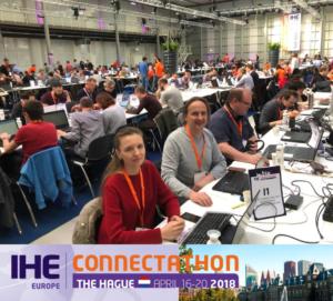 Das medidok-Team auf dem IHE-Connectathon 2018 in Den Hag. Weitere XDS Profile getestet.