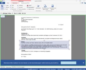 x.archiv screen Texterkennung